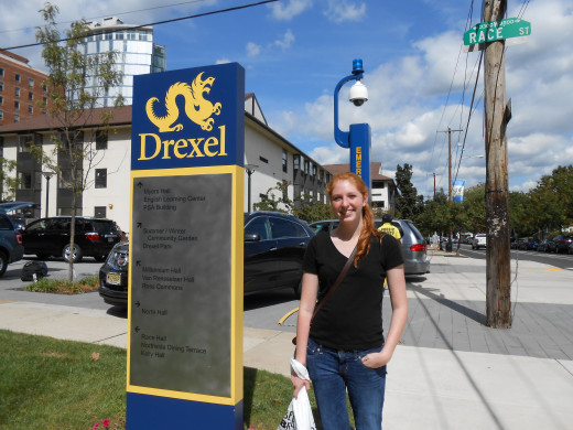 My daughter on move in day at Drexel University in Philadelphia, PA. ( this was also her 18th birthday!)