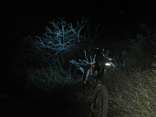 Biking at night can be a great relaxing experience