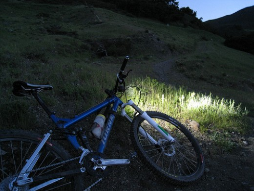 Great views are just one part of biking at night