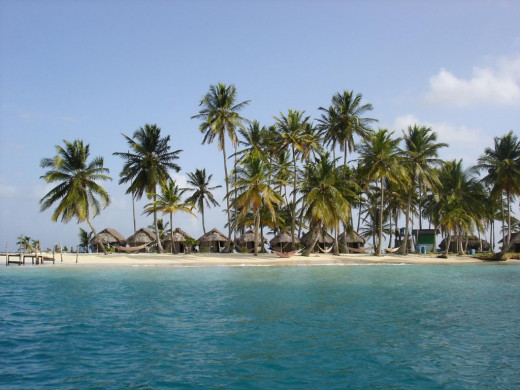 One of more than 360 islands in the San Blas Archipelago.