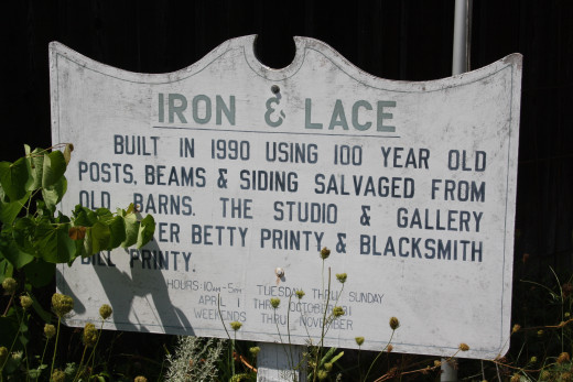 Iron and Lace store