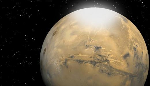 Frozen Liquid Storm on Mars