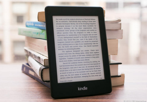 The Kindle Paperwhite weighs less than 8 oz. and can operate for more than two months on a full charge.