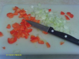 Chop and mince all the ingredients and set aside.