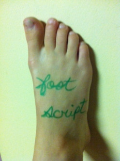 Foot Script Teen Party Game