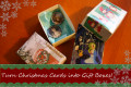 How to Recycle Old Holiday Cards into Gift Boxes