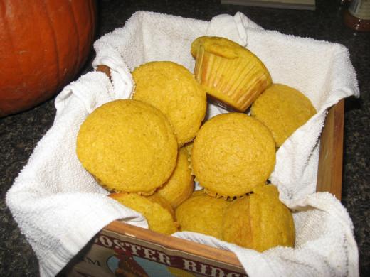 Pumpkin Cornbead Muffins