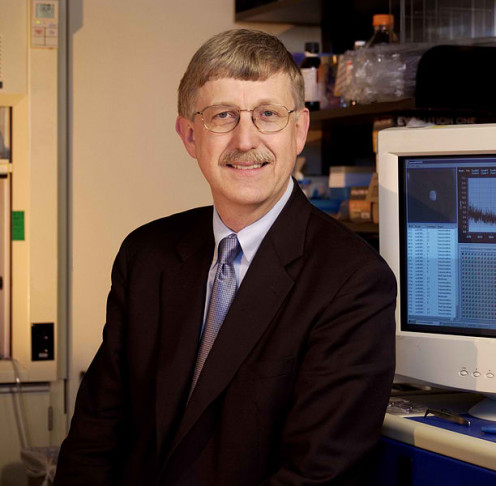 Portrait of Dr. Francis S. Collins, Director of NHGRI, from 1993 to 2008.