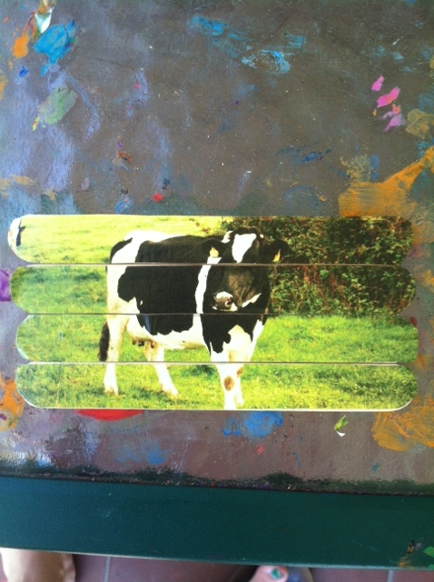 the little boy I nanny for loves cows, so he was excited about this one =)