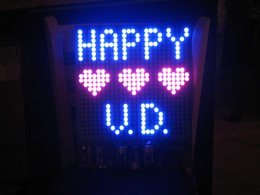 Valentine Led Display
