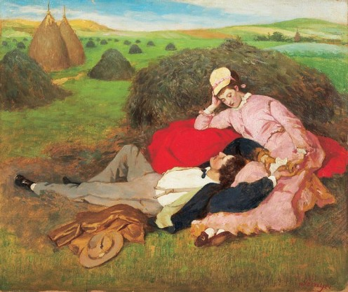 Lovers (1918) Painting by Pal Szinyei Merse (1845-1920) Private collection