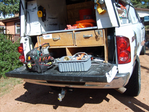 Items inside the pickup