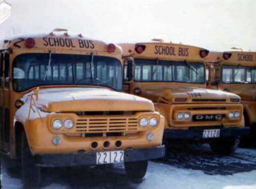 School buses similar to the ones used by NC Public School system.