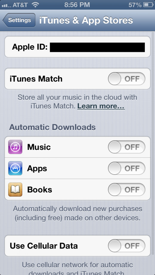 """Tap the """"Apple ID"""" field at the top of the screen."""