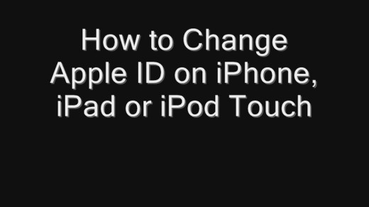 change apple id on iphone how to change apple id on iphone or ipod touch 16777