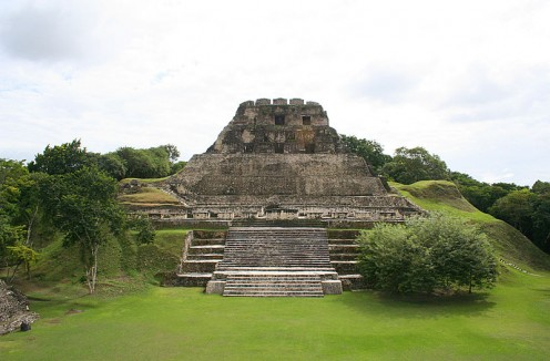 El Castillo, a Mayan archeological site in Xunantunich, Belize was photographed on December 3, 2006 by Ian Mackenzie.