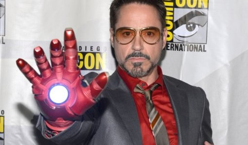 "Just dress like Robert in this photo! ""Voila!"" Cool suit and a sci-fi glove! Easy peasy!"