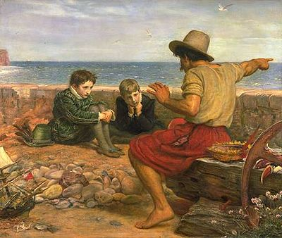 A seafarer tells young Sir Walter Raleigh and his brother a story of what happened out at sea.