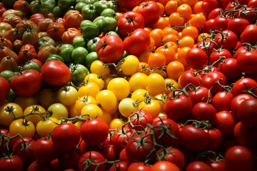 Tasty heirloom tomatoes can add colorful variety to a range of dishes.