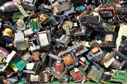 The amount of electronic waste is increasing each year.