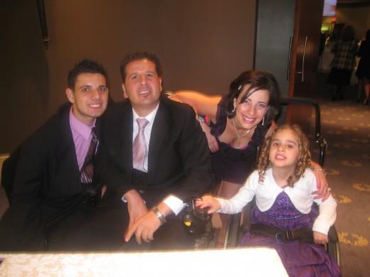 L-R Cosimo, Tony, Sonia & Alessia