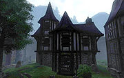 Dark Brotherhood Hideout, a safe haven for the guild. The closest to a Guild hall it has.