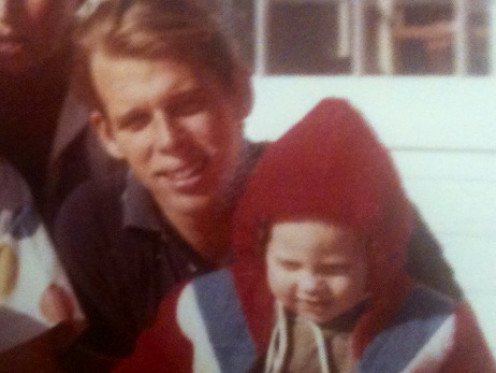 Dad as a young father