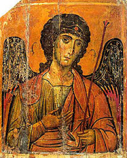 Archangel Michael-- ancient mosiac