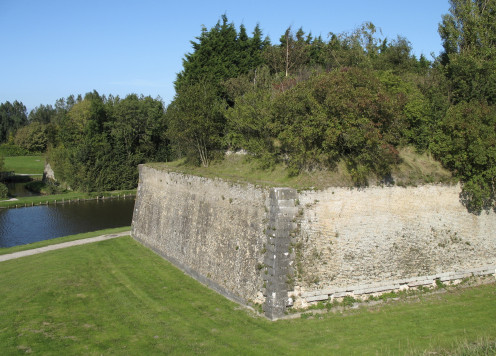 18th century ramparts at Gravelines