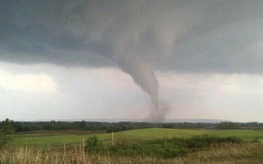 Andrew captured this small tornado in rural Oklahoma country last year.