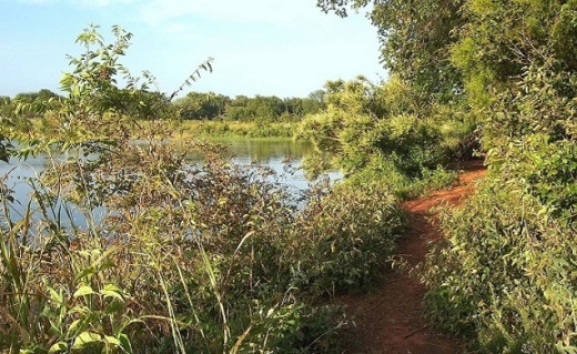 Summer, with wind, water, red dirt walks, makes for beautiful scenery - and exercise.