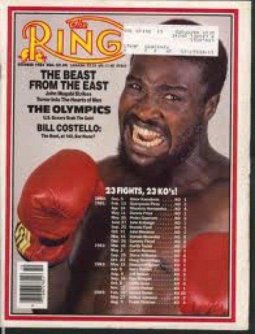 """John"""" The Beast"""" Mugabi was a former middleweight boxer who fought among others, Marvelous Marvin Hagler."""