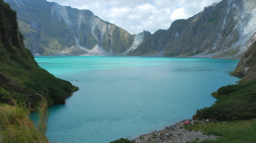Mt. Pinatubo's crater