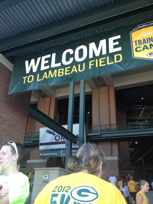 There is something cool about the Green Bay Packers welcoming your into their home!