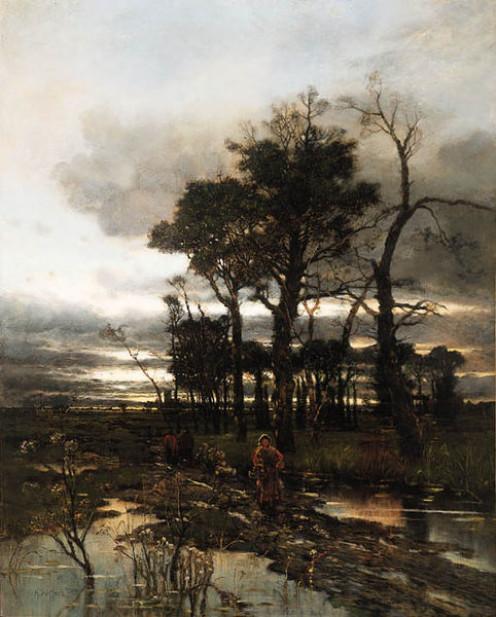 """""""Evening landscape"""",by Karl Heffner (1849-1925)"""