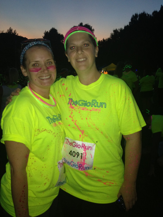 The GLO Run made for a great Girls Night Out event with one of my best friends!