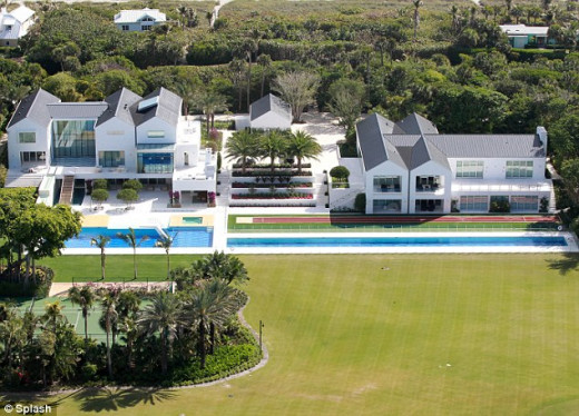 Tiger Woods home in 2011.  Value - $60 million, 35,000 square feet