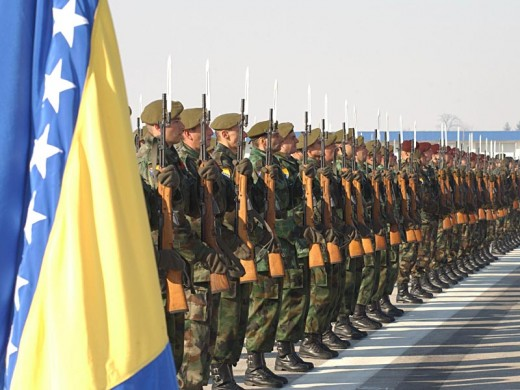 The Bosnian Army today, made up of soldiers from all of the country's ethnic and religious backgrounds.