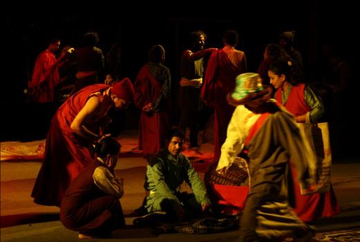 A production still from Muna Madan by Laxmi Prasad Devkota
