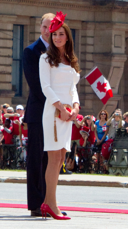 Prince William, Duke of Cambridge and Catherine, Duchess of Cambridge, on their first royal tour as a married couple, visiting Ottawa for Canada Day celebrations, July 1, 2011