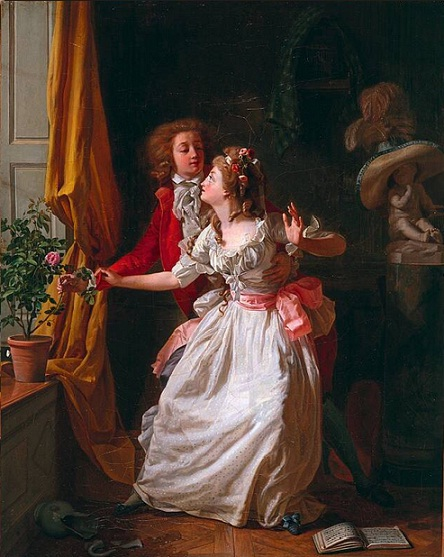 """The poorly defended rose"" (1789) by Michel Garnier (1753-1819)"