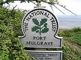 On the way in from the Goldsborough road to Port Mulgrave, the National Trust oak leaf emblem denotes a site of historical interest
