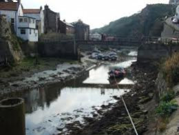 Staithes Creek - Roxby Beck starts high up on the moors above Dalehouse to the west of here