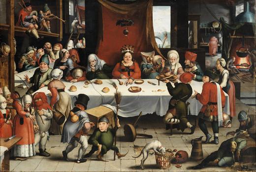 """""""Burlesque feast"""", by Ian Mandijn (1502-1560)"""