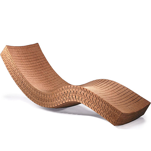 Chaise long made of cork