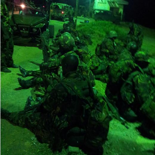 KDF soldiers at Kismayu