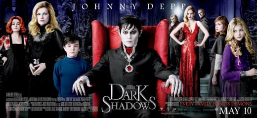 Dark Shadows (2012) poster