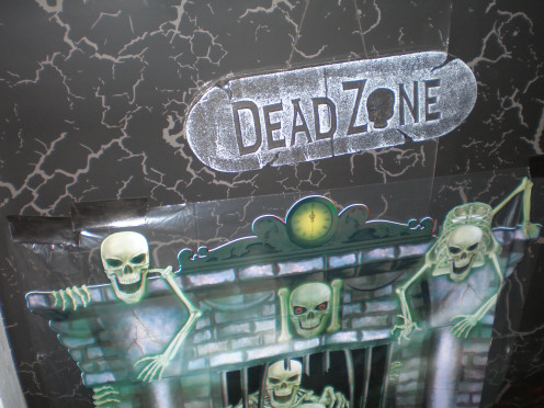 "Enter the ""Dead Zone"" - a cheap Styrofoam Halloween decoration"