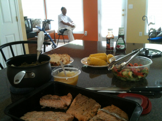 Our dinner spread