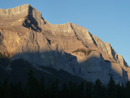 From the front of our condo in Canmore